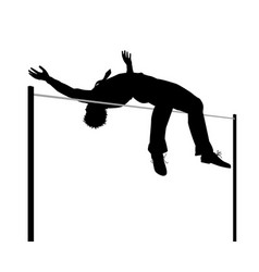 businessman high jump silhouette vector image vector image
