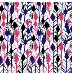 Ethnic Geometrical Feather seamless background vector image vector image