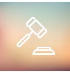 Gavel thin line icon vector image