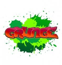 grunge graffiti background vector image vector image