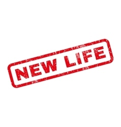 New Life Rubber Stamp vector image