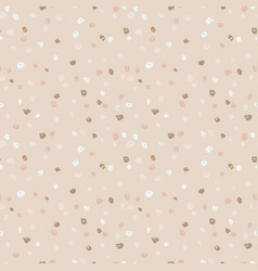 seamless beige ink dots pattern grunge vector image