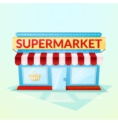 Supermarket shop vector image vector image