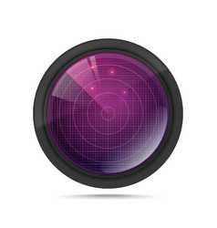 3d radar with targets in process vector image