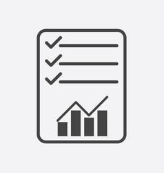 checklist icon graph flat vector image vector image