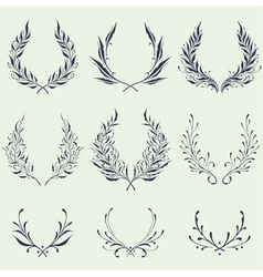 Floral Wreath Ornaments vector image vector image