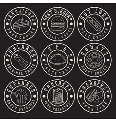 set of vintage grunge labels of food vector image vector image