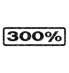 300 percent watermark stamp vector image vector image