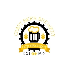 Beer Logo Design Template With Pint vector image
