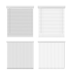 horizontal and vertical window blinds icon vector image
