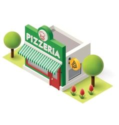 isometric pizzeria vector image