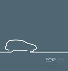 Laconic design of velocity vehicle car cleaness vector image vector image
