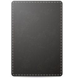 Leather NB Black vector image vector image