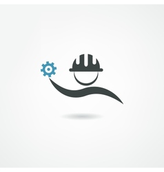 engineer icon vector image