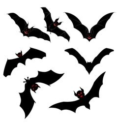 Flying Bats Set vector image vector image