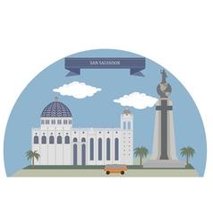 San Salvador vector image vector image