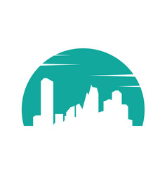 abstract city silhouette logo image vector image