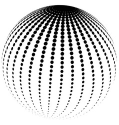abstract halftone globe vector image
