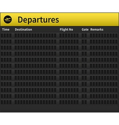 Airport timetable empty vector image