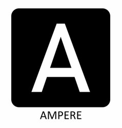 Ampere symbol vector