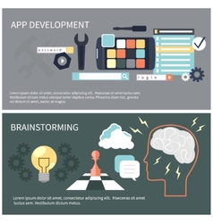 App development and brainstorming vector image