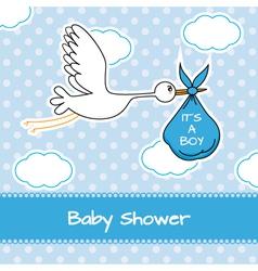Baboy arrival announcement card vector
