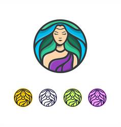 Beauty hair lady logo vector