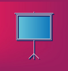 Blank projection screen blue 3d printed vector