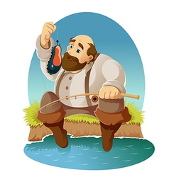 Cartoon fisher vector image