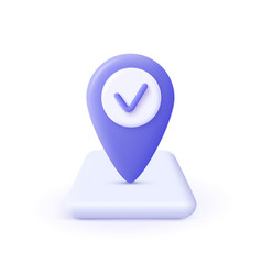 Checkmark icon approvement concept geolocation vector