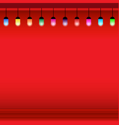 christmas light background with lamp vector image