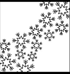 Christmas snow flake falling card decoration vector