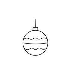 christmas tree bauble icon vector image