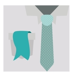 Close up formal shirt with dotted necktie and vector