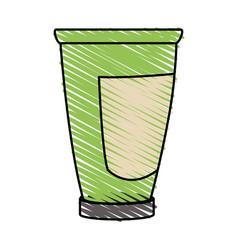 Color crayon stripe cartoon tube cream container vector