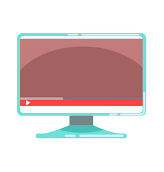 Computer monitor with media player interface vector