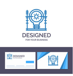 Creative business card and logo template define vector