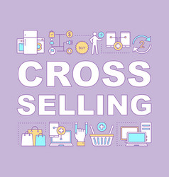 Cross selling word concepts banner vector