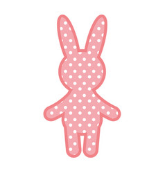 cute rabbit character icon vector image