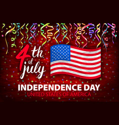 Day of independence of usa poster 4th vector