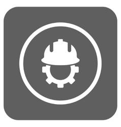 Development Helmet Flat Squared Icon vector image