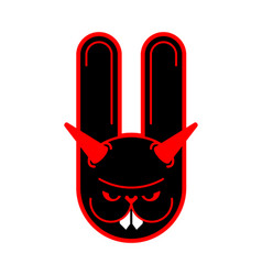 Devil bunny angry hare crazy rabbit mad animal vector