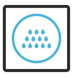 Drops Framed Icon vector
