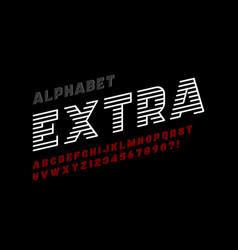Dynamic design display font alphabet letters vector