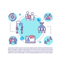 E learning concept icon with text vector