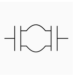 Expansion joint symbol icon vector
