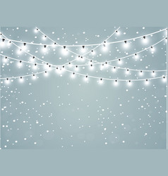 Falling snow on a transparent sparkle background vector