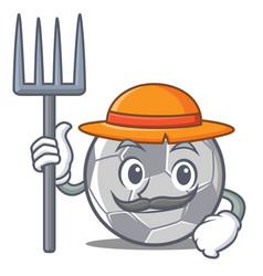 Farmer football character cartoon style vector