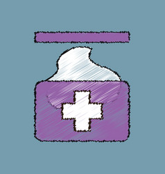 Flat shading style icon medical napkins vector