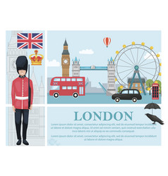 Flat travel to london concept vector
